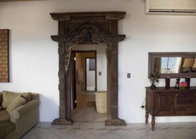 Doorway to bedrooms